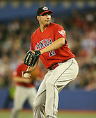 March 7, 2009:  Pitcher Phillippe Aumont (17) of Canada during the first round of the World Baseball Classic at the Rogers Centre in Toronto, Ontario, Canada.  Team USA defeated Canada 6-5 in both teams opening game of the tournament.  Photo by:  Mike Janes/Four Seam Images
