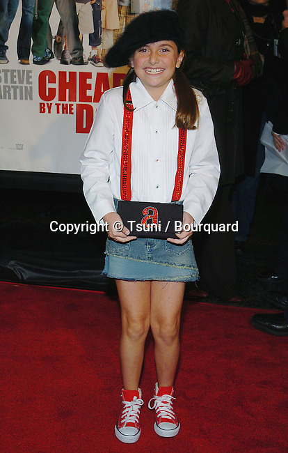 "Alyson Stoner arriving at the "" CHEAPER BY THE DOZEN PREMIERE "" at the Chinese Theatre in Los Angeles. december 14, 2003."