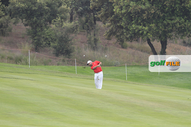 Damien McGrane (IRL) on the 12th during Round 1 of the Open de Espana  in Club de Golf el Prat, Barcelona on Thursday 14th May 2015.<br /> Picture:  Thos Caffrey / www.golffile.ie
