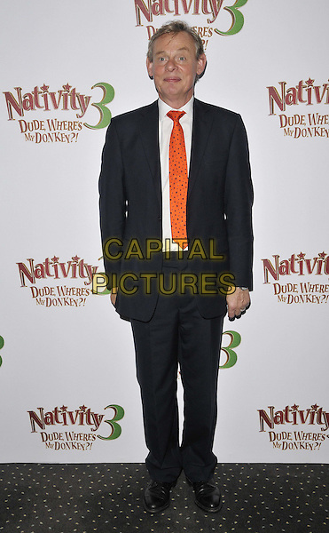 LONDON, ENGLAND - NOVEMBER 02: Martin Clunes attends the &quot;Nativity 3: Dude, Where's My Donkey&quot; UK film premiere, Vue West End cinema, Leicester Square, on Sunday November 02, 2014 in London, England, UK. <br /> CAP/CAN<br /> &copy;Can Nguyen/Capital Pictures