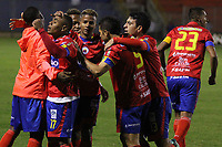 PASTO -COLOMBIA, 13-08-2017: Harrison Canchimbo (#17) jugador del Deportivo Pasto celebra después de anotar un gol a Deportivo Cali durante partido por la fecha 7 de la Liga Águila II 201/ jugado en el estadio La Libertad de Pasto. / Harrison Canchimbo (#17) player of Deportivo Pasto celebrates after scoring a goal to Deportivo Cali during match for the date 7 of Aguila League II 2017 played at La Libertad stadium in Pasto. Photo: VizzorImage / Leonardo Castro / Cont