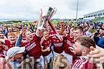 Causeway players celebrate winning the Kerry County Hurling final between Causeway and Lixnaw at Austin Stack park on Sunday