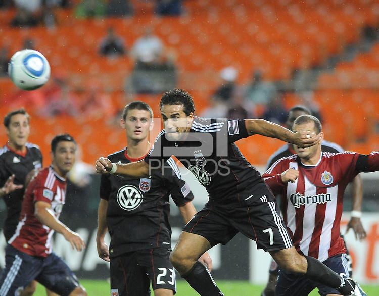 D.C. United forward Dwayne De Rosario (7). Chivas USA tied D.C. United 2-2 at RFK Stadium, Wednesday  September 20 , 2011.