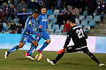 Getafe´s Freddy and Roberto Lago and Sevilla´s goalkeeper Sergio Rico during 2014-15 La Liga match at Alfonso Perez Coliseum stadium in Getafe, Spain. February 08, 2015. (ALTERPHOTOS/Victor Blanco)