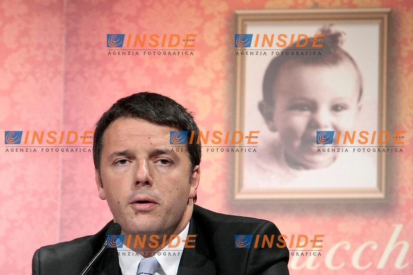 Matteo Renzi<br /> Roma 18/12/2013 Presentazione del libro Sale, Zucchero e Caffe'.<br /> Photo Samantha Zucchi Insidefoto