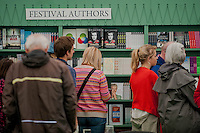Tuesday 27 May 2014, Hay on Wye, UK<br /> Pictured: General Views of the Hay Festival <br /> Re: The Hay Festival, Hay on Wye, Powys, Wales UK.