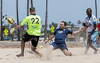 Huntington Beach, CA - Wednesday May 01, 2019: U.S. Men's Beach National team vs Lazio beach scrimmage at Huntington State Beach.