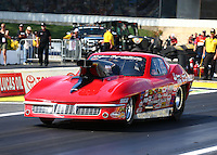 May 31, 2013; Englishtown, NJ, USA: NHRA top sportsman driver Mike Kaufman during qualifying for the Summer Nationals at Raceway Park. Mandatory Credit: Mark J. Rebilas-