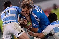 Joshua Furno Italia (R), Juan Imhoff Argentina<br /> Roma 23-11-2013, Stadio Olimpico. Cariparma Rugby Test Match - Italia vs Argentina - Foto Antonietta BaldassarreInsidefoto