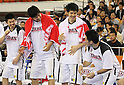 (L-R) Takeki Shonaka, Kosuke Takeuchi, Takumi Ishizaki, Shinsuke Kashiwagi (JPN), SEPTEMBER 19, 2011 - Basketball : 26th FIBA Asia Championship Second Group F match between Japan 101-61 UAE at Wuhan Sports Center in Wuhan, China. (Photo by Yoshio Kato/AFLO)