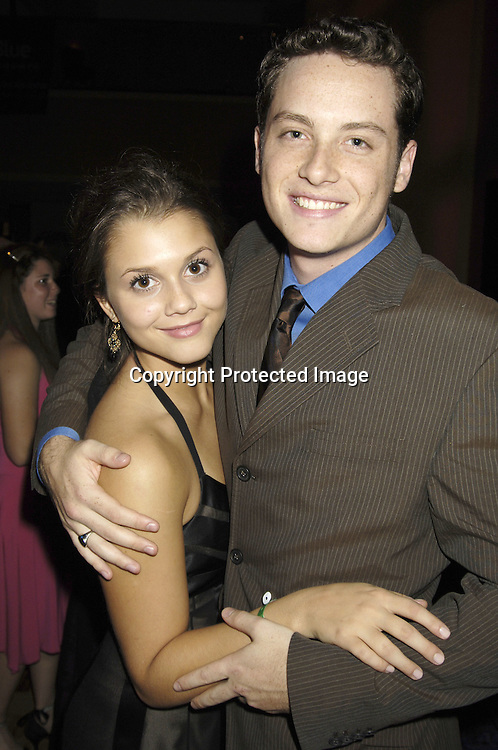 Alexandra Chando and Jesse Soffer of As The World Turns ..at the 11th Annual Daytime Television Salutes St. Jude Children's Research Hospital benefit hosted by Martha Byrne on October 14, 2005 at The New York Marriott Marquis Hotel. ..Photo by Robin Platzer, Twin Images
