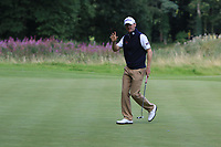 Michael Hoey (NIR) on the 10th green during Round 1 of the Northern Ireland Open at Galgorm Castle Golf Club, Ballymena Co. Antrim. 10/08/2017<br /> Picture: Golffile | Thos Caffrey<br /> <br /> <br /> All photo usage must carry mandatory copyright credit     (&copy; Golffile | Thos Caffrey)