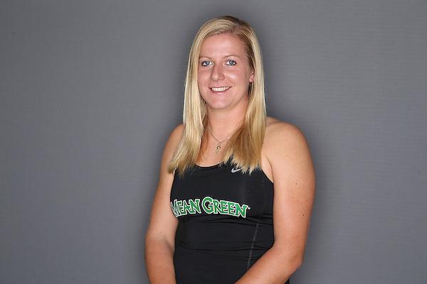DENTON TX - OCTOBER 25: Franziska Sprinkmeyer  junior of the North Texas Mean Green Tennis team at Waranch Tennis Center in Denton on October 25, 2013 in Denton, Texas. (Photo by Rick Yeatts)