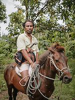 A local of Karuni, an area famous for horsebreeding, Southwestern Sumba.