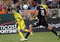 WASHINGTON, DC - AUGUST 4, 2012:  Ethan Finlay (13) of the Columbus Crew during an MLS match against DC United at RFK Stadium in Washington DC on August 4. United won 1-0.