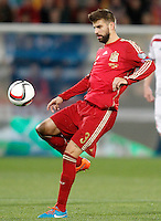 Spain's Gerard Pique during 15th UEFA European Championship Qualifying Round match. November 15,2014.(ALTERPHOTOS/Acero) /NortePhoto nortephoto@gmail.com