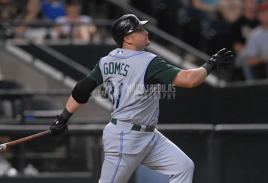 Jun 18, 2007; Phoenix, AZ, USA; Tampa Bay Devil Rays right fielder (31) Jonny Gomes against the Arizona Diamondbacks at Chase Field. Mandatory Credit: Mark J. Rebilas