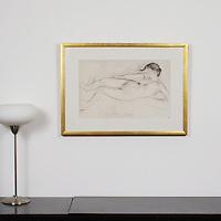 "Degas: ""Study For A Scene Of War"", Digital Print, Image Dims. 21"" x 13.25"", Framed Dims. 29"" x 21"""