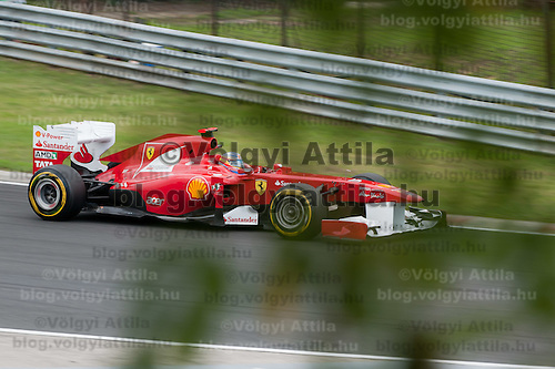 Ferrari Formula One driver Fernando Alonso of Spain drives during the Qualifyer of the Hungarian F1 Grand Prix in Mogyorod (about 20km north-east from Budapest), Hungary. Saturday, 30. July 2011. ATTILA VOLGYI