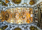 Fisheye of ceiling in Santa Maria Assunta Church, Cannaregio, Venice, Italy