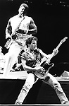 Bruce Springsteen 1985 with Clarence Clemons. © Chris Walter.