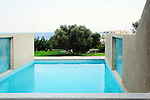 Swimming pool at luxury villa, Crete, Greece <br />