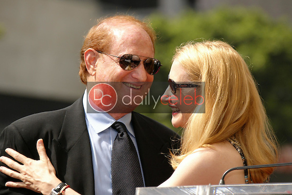 Mike Medavoy with Patricia Clarkson<br />at the Ceremony Honoring him with a star on the Hollywood Walk of Fame. Hollywood Boulevard, Hollywood, CA. 09-19-05<br />Dave Edwards/DailyCeleb.Com 818-249-4998
