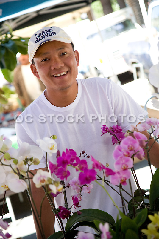 Orchid Vendor at the Downtown Anaheim Farmer's Market