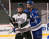 Michael Phillips (Babson - 16), Colin Larkin (UMB - 14) - The UMass Boston Beacons defeated the Babson College Beavers 5-1 on Thursday, January 12, 2017, at Fenway Park in Boston, Massachusetts.