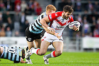 Picture by Alex Whitehead/SWpix.com - 01/05/2014 - Rugby League - First Utility Super League - St Helens v London Broncos - Langtree Park, St Helens, England - St Helens' Alex Walmsley is tackled by London's James Cunningham.
