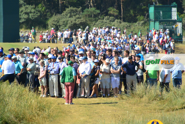 crowds during round one of  The 142th Open Championship Muirfield, Gullane, East Lothian, Scotland 18/7/2013<br /> Picture Fran Caffrey www.golffile.ie: