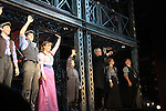 Curtain Call - Cast and Guiding Light Ron Raines who now stars as Joseph Pulitzer in Broadway's Newsies beginning October 9, 2012 at the Nederlander Theatre, New York City, New York. (Photo by Sue Coflin/Max Photos)