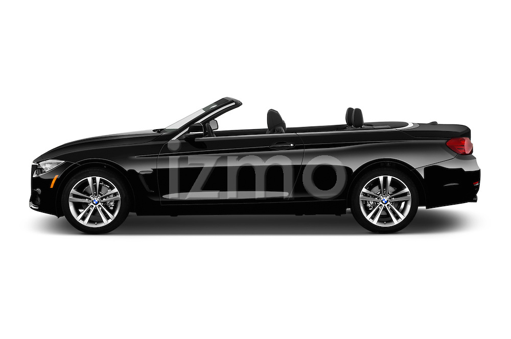 Car Driver side profile view of a 2017 BMW 4-Series 430i 2 Door Convertible Side View