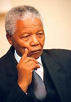 Then-President Nelson Mandela.
