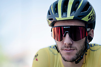 yellow jersey / GC leader Adam Yates (GBR/Mitchelton-Scott) at the stage start<br /> <br /> Stage 5: Boën-sur-Lignon to Voiron (201km)<br /> 71st Critérium du Dauphiné 2019 (2.UWT)<br /> <br /> ©kramon