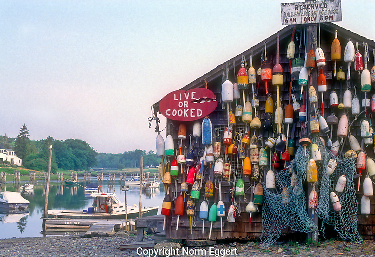 Lobster shack at Baldhead, Maine
