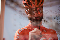 Guillaume VAN KEIRSBULCK (BEL/CCC) at the sign-on podium at the race start in front of the Castello Sforzesco<br /> <br /> 110th Milano-Sanremo 2019 (ITA)<br /> One day race from Milano to Sanremo (291km)<br /> <br /> ©kramon