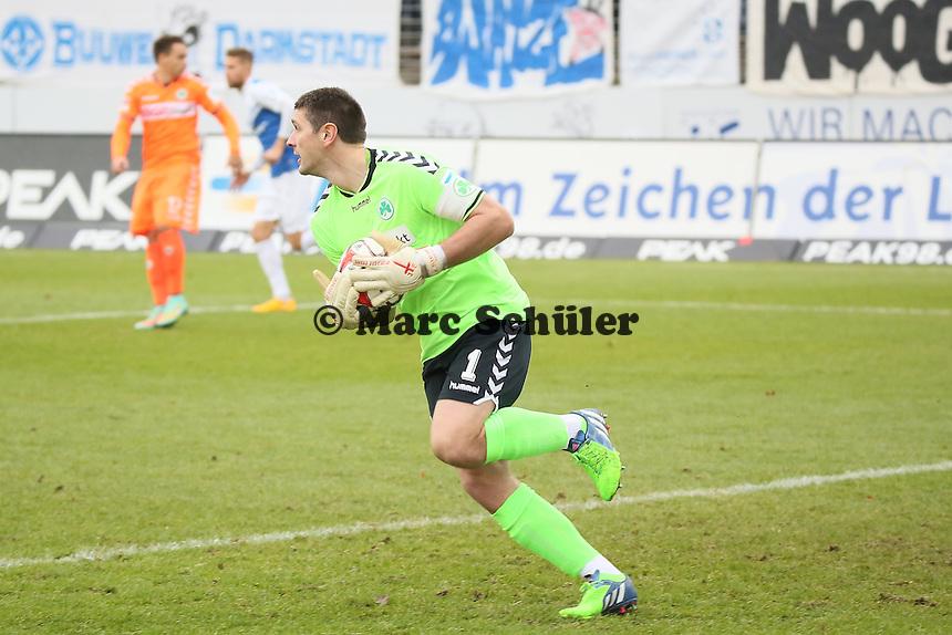 Wolfgang Hesl (Fuerth) - SV Darmstadt 98 vs. SpVgg. Greuther Fuerth, Stadion am Boellenfalltor