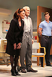 Linda Lavin, Dick Latessa & Gregory Wooddell.during the Opening Night Performance Curtain Call for Nicky Silver's 'The Lyons' at the Vineyard Theatre in New York City.