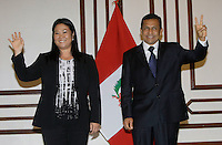 Keiko Fujimori (left) and Ollanta Humala (right) after she recognize the triunf of Ollanta in the elections of Peru.Lima, Peru, Monday, June 6, 2011.