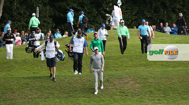 Danny Willett (ENG) heading from the 2nd tee during Round Two of the 2016 BMW PGA Championship over the West Course at Wentworth, Virginia Water, London. 27/05/2016. Picture: Golffile | David Lloyd. <br /> <br /> All photo usage must display a mandatory copyright credit to &copy; Golffile | David Lloyd.