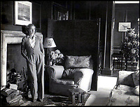 BNPS.co.uk (01202 558833)Pic: Rowley's/BNPS<br /> <br /> Daphne du Maurier at Menabilly in 1945 – 'my Mena' her home near Fowey in Cornwall inspired the house Manderley in her famous novel Rebecca.<br /> <br /> Two previously unknown poems by celebrated writer Daphne du Maurier have been discovered hidden inside a photograph frame.<br /> <br /> They are believed to have been penned in the late 1920s, when she was in her early 20s and an unknown in the literary world.<br /> <br /> The poems were written on a carefully folded sheet of A4 paper concealed within a 5ins high blue leather frame which contained a photo of du Maurier in a swimming costume. <br /> <br /> They were uncovered by an eagle-eyed auctioneer who has been tasked with selling an archive of du Maurier's letters and photos, which includes snaps with the Royals.