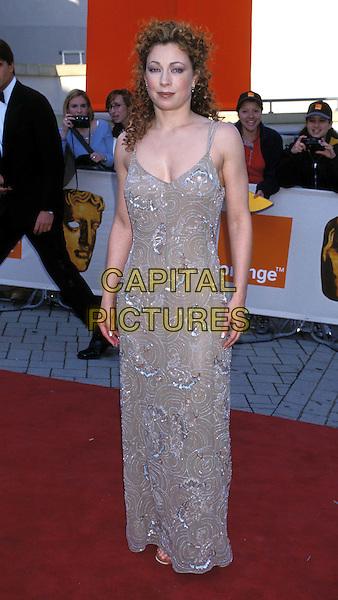 ALEX KINGSTON.Ref: 8357/1104I.red carpet, long gray, grey blue dress, full length, full-length.www.capitalpictures.com.sales@capitalpictures.com.©Capital Pictures