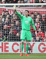 Nottingham Forest's Costel Pantilimon<br /> <br /> Photographer Mick Walker/CameraSport<br /> <br /> The EFL Sky Bet Championship - Nottingham Forest v Derby County - Sunday 11th March 2018 - The City Ground - Nottingham<br /> <br /> World Copyright &copy; 2018 CameraSport. All rights reserved. 43 Linden Ave. Countesthorpe. Leicester. England. LE8 5PG - Tel: +44 (0) 116 277 4147 - admin@camerasport.com - www.camerasport.com