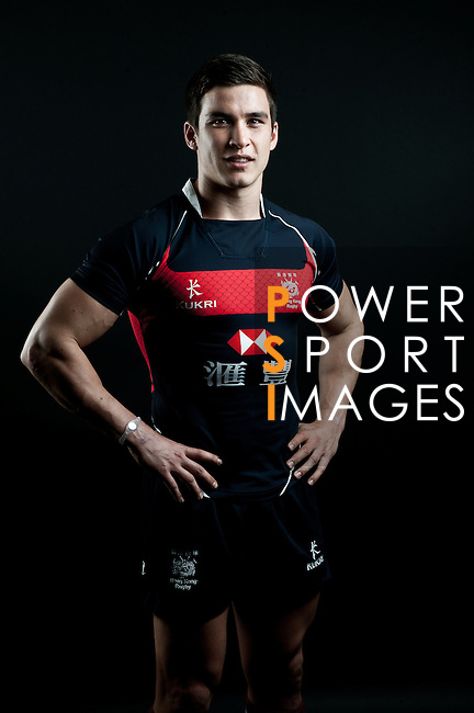 Ed Haynes poses during the Hong Kong 7's Squads Portraits on 5 March 2012 at the King's Park Sport Ground in Hong Kong. Photo by Andy Jones / The Power of Sport Images for HKRFU