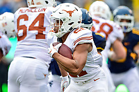 Morgantown, WV - NOV 18, 2017: Texas Longhorns quarterback Sam Ehlinger (11) in action during game between West Virginia and Texas at Mountaineer Field at Milan Puskar Stadium Morgantown, West Virginia. (Photo by Phil Peters/Media Images International)