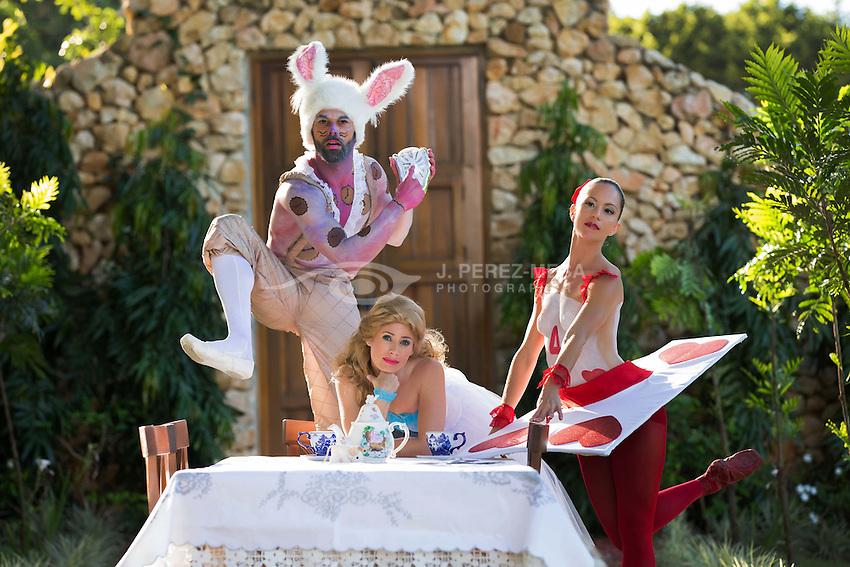 CoDa 21's Alice in Wonderland promotional photo session in Hacienda Don Carmelo, Vega Baja, PR