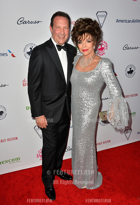 LOS ANGELES, CA. October 06, 2018: Joan Collins &amp; Percy Gibson  at the 2018 Carousel of Hope Ball at the Beverly Hilton Hotel.<br /> Picture: Paul Smith/Featureflash