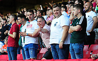 Swansea Cityf fans during the Sky Bet Championship match between Sheffield United and Swansea City at Bramall Lane, Sheffield, England, UK. Saturday 04 August 2018