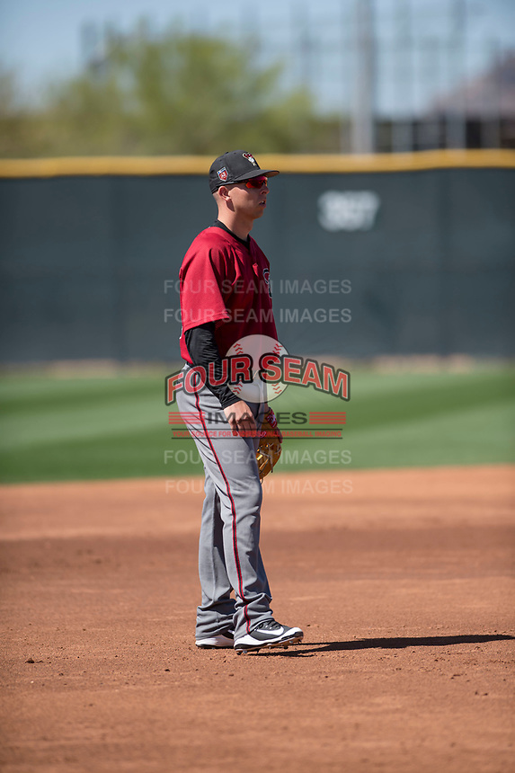 Arizona Diamondbacks third baseman Drew Ellis (33) during a Minor League Spring Training game against the San Francisco Giants at Salt River Fields at Talking Stick on March 28, 2018 in Scottsdale, Arizona. (Zachary Lucy/Four Seam Images)